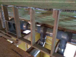 Петродворец. Система отопления и вентиляции в каркасном доме 240 м2. Отвод газов
