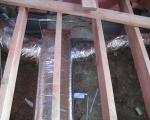 Подающие воздуховоды системы воздушного отопления в каркасном доме.